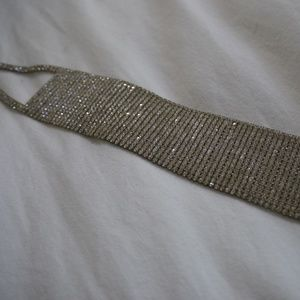 Wide Rhinestone Crystal Choker (20-row)